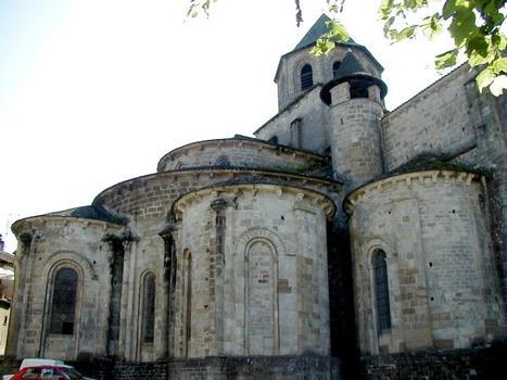 Abbatiale Saint-Pierre de Beaulieu-sur-Dordogne.Chevet de l'abbatiale