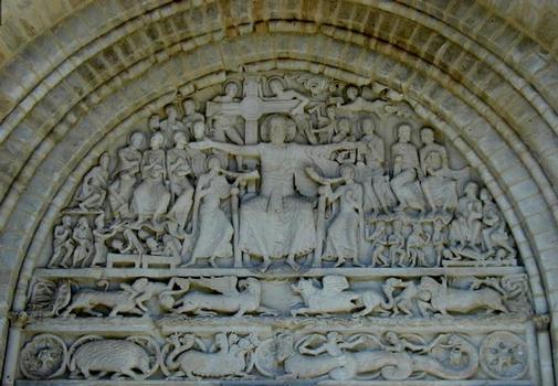 Abbatiale Saint-Pierre de Beaulieu-sur-Dordogne.Tympan du portail Sud