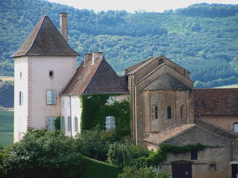 Berzé-la-Ville - Chapelle des moines - Vue du chevet