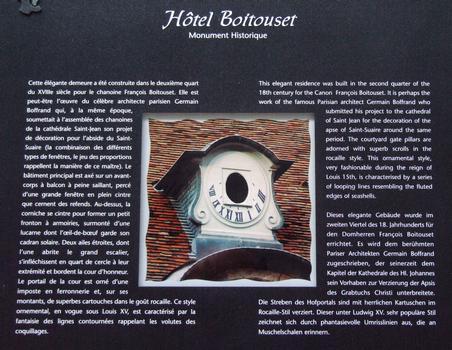 Besançon - Hôtel Boitouset - Panneau d'information