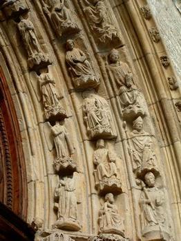 Eglise Saint-Nicolas, Blois.Sculptures du portail