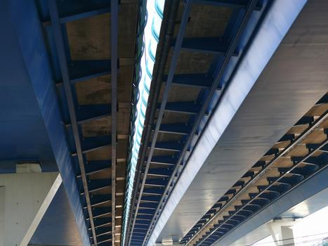 Lille - Viaduct corssing the railroad tracks at Lille-Flandres Station