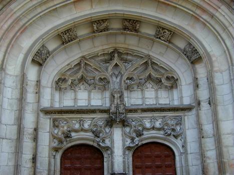 Eglise du Monastère royal de Brou. Détail portail nord
