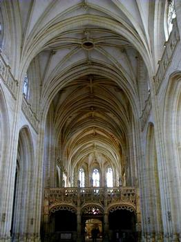 Eglise du Monastère royal de Brou. Nef et jubé - Ensemble