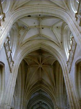 Eglise du Monastère royal de Brou.Voûtes du transept et de la croisée