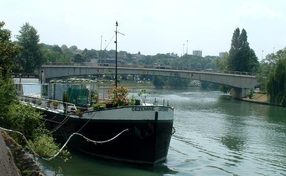 Pont routier de Bry, Bry-sur-Marne Ensemble côté amont