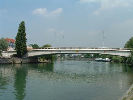 Pont routier de Bry, Bry-sur-MarneEnsemble côté aval