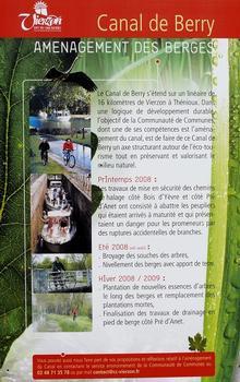Canal de Berry à Vierzon - Panneau d'information