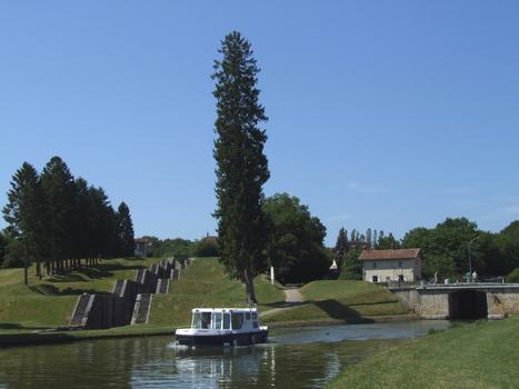 Briare-Kanal in Rogny - Schleusen Nr. 17 und 18