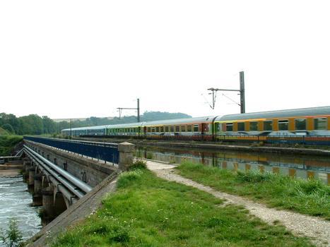 Canal de la Marne au Rhin, Östlicher Abschnitt Kanalbrücke über die Meurthe bei Saint-Nicolas-de-Port