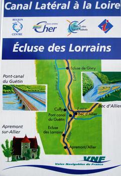 Canal latéral de la Loire - Ecluse ronde des Lorrains - Panneau d'information