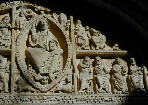 Eglise Saint-Pierre de Carennac. Tympan - Détail
