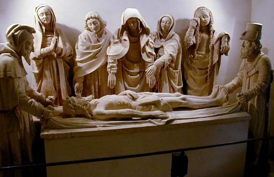 Cloître à Carennac. Mise au tombeau