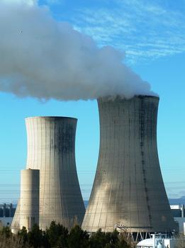 Tricastin Nuclear Power PlantAir cooling towers