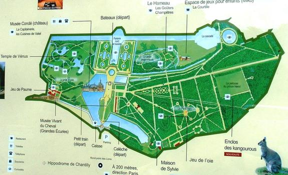 Karte der Domäne von Chantilly