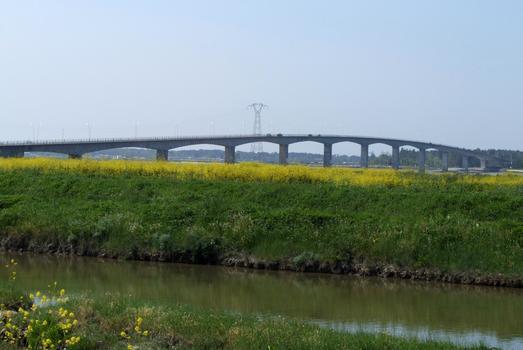 Pont sur la Seudre vu de la rive droite