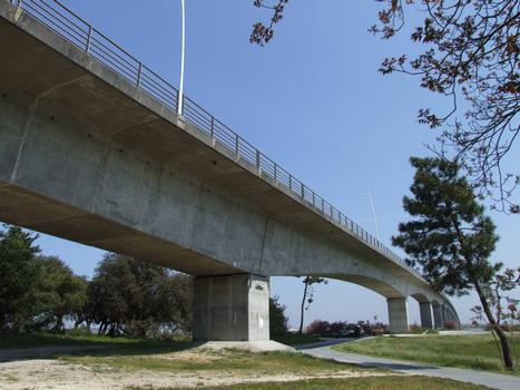 Pont sur la Seudre vu de la rive gauche