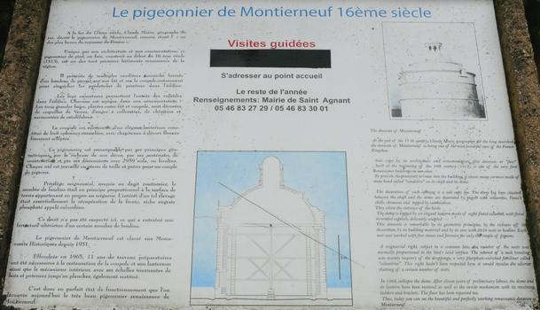 Saint-Agnant - Pigeonnier Renaissance de Montierneuf - Panneau d'information