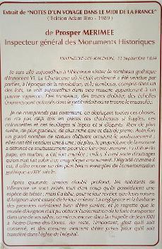 Chartreuse du Val-de-BénédictionTexte d'une lettre