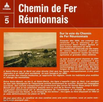 Chemin de fer Réunionnais - Saint-Benoît - Panneau d'information à la Marine