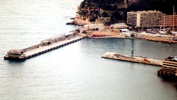 Port de la Condamine with floating pier extension, Monaco