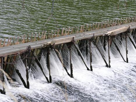 Barrage à aiguilles d'Auxonne sur la Saône
