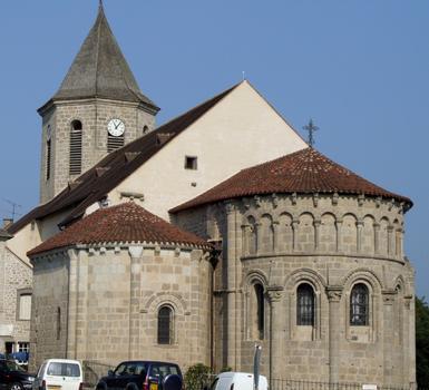 Ahun - Eglise Saint-Sylvain - Chevet roman