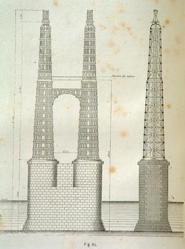 Pont de Cubzac (1838) Pylônes