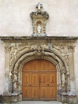 Hôpital de Melle - Porte de la chapelle ancien jubé du couvent de Puyberland