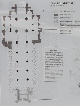 Saint-Maixent-l'Ecole - Eglise Saint-Maixent (ancienne abbaye) - Plan