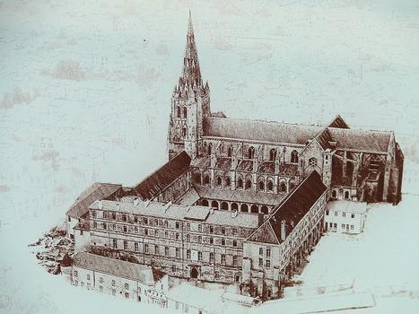 Saint-Maixent-l'Ecole - Eglise Saint-Maixent (ancienne abbaye) - Dessin