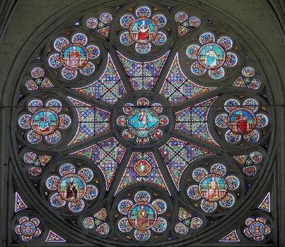 Saint-Maixent-l'Ecole - Eglise Saint-Maixent (ancienne abbaye) - Choeur: Rose