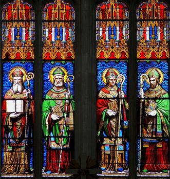 Saint-Maixent-l'Ecole - Eglise Saint-Maixent (ancienne abbaye) - Choeur: Vitraux