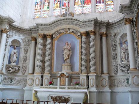 Saint-Maixent-l'Ecole - Eglise Saint-Maixent (ancienne abbaye) - Choeur: maître-autel
