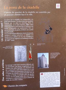 Parthenay - Porte de la Citadelle - Panneau d'information