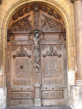 Dijon - Palais de Justice (Parlement de Dijon) - L'entrée construite par Hugues Sambin - Porte