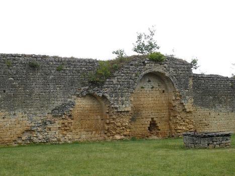 Château de Molières - Trace de l'escalier menant au chemin de ronde