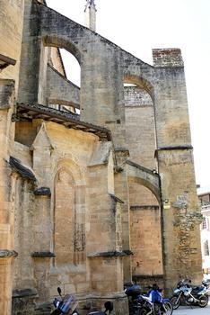 Sarlat-la-Canéda - Cathédrale Saint-Sacerdos - Chevet - Contreforts