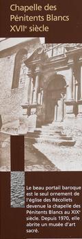 Sarlat-la-Canéda - Chapelle des Pénitents Blancs - Panneau d'information
