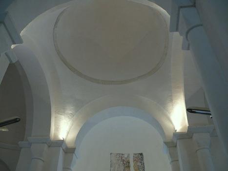 Montagrier - Eglise Sainte-Madeleine - Coupole de la croisée du transept et abside