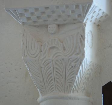 Montagrier - Eglise Sainte-Madeleine - Abside : chapiteau