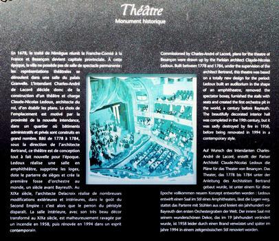 Besançon - Théâtre municipal - Panneau d'information