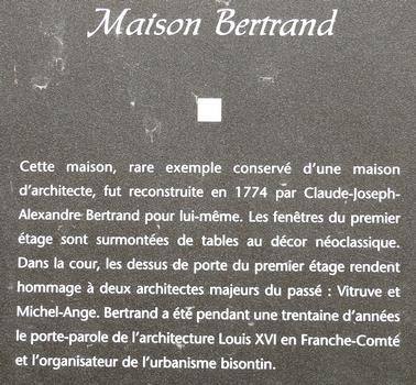 Besançon - Maison de l'architecte Bertrand - Panneau d'information