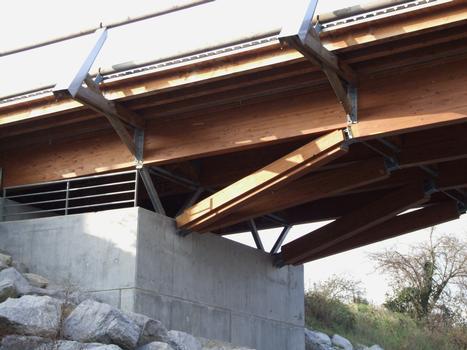Crest - Pont de bois - Appui sur culée