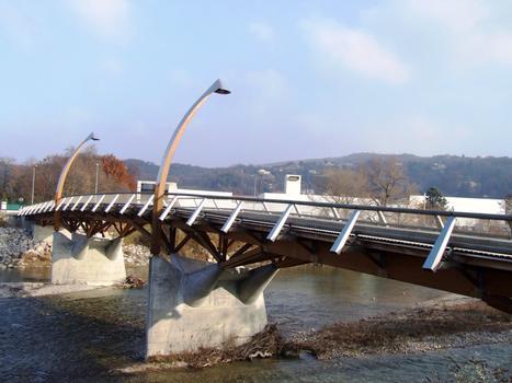 Crest - Pont de bois - Ensemble vu de l'aval