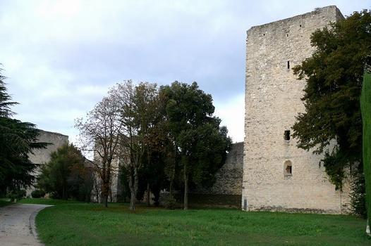 Montélimar - Château des Adhémar - L'enceinte et la tour de Narbonne