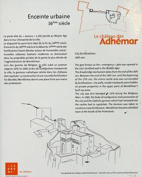Montélimar - Château des Adhémar - Porte dite du «secours» (16ème siècle) - Panneau d'information : Montélimar - Château des Adhémar - Porte dite du «secours» (16 ème siècle) - Panneau d'information