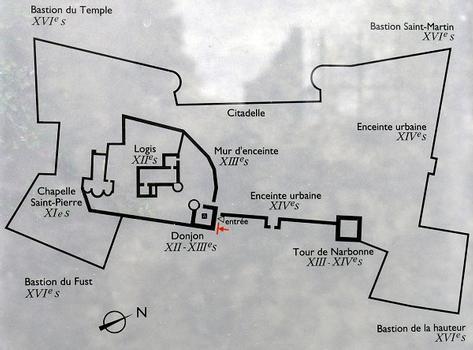 Montélimar - Château des Adhémar - Plan