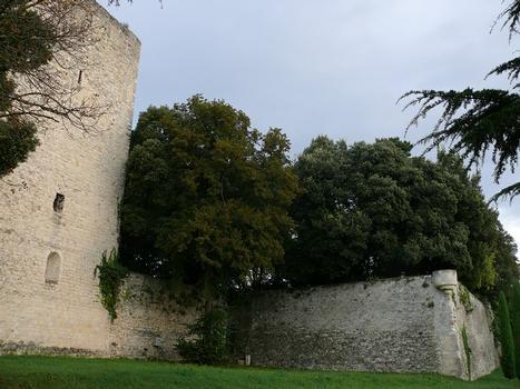Montélimar - Château des Adhémar - Tour de Narbonne (14ème siècle) et bastion de la hauteur (16ème siècle) : Montélimar - Château des Adhémar - Tour de Narbonne (14 ème siècle) et bastion de la hauteur (16 ème siècle)