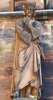 Erwin von Steinbach - Statue at the south door of Strasbourg cathedral